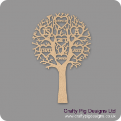 "3mm MDF ""FAMILY IS A GIFT THAT LASTS FORVER"" - Cut Out Tree"