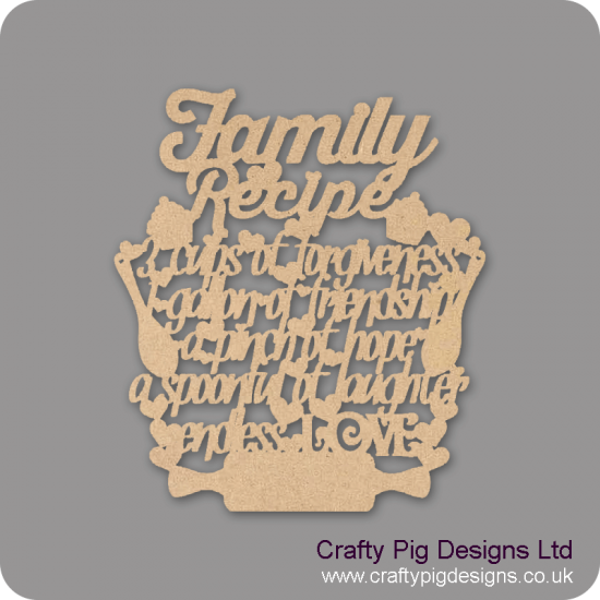 3mm MDF Family Recipe Mother's Day