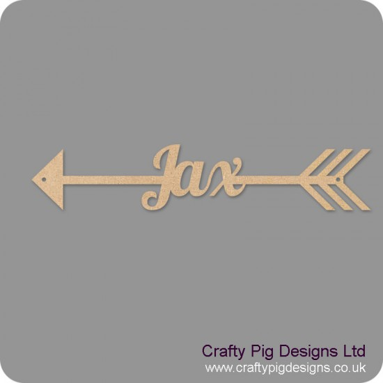 4mm mdf  Personalised Arrow by width (name in arrow) Basic Shapes