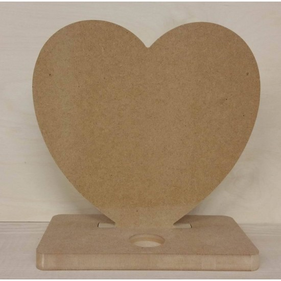 18mm Feestanding Heart With Tea Light Base Mother's Day