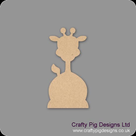 3mm MDF Funky Giraffe shape