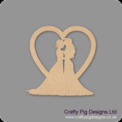 3mm MDF Gay Wedding Heart - Female Hearts