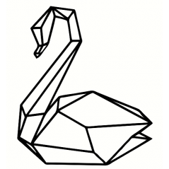 3mm mdf Geometric Swan Animal Shapes