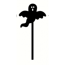 3mm mdf Ghost Wand Halloween