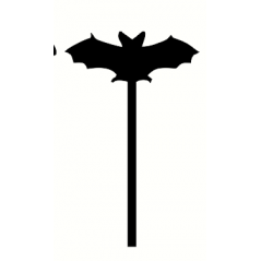 3mm mdf Bat Wand Halloween