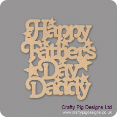 3mm MDF Happy Fathers Day Daddy Mother's Day