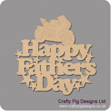 3mm MDF Happy Father's Day hanging plaque with motorbike Fathers Day