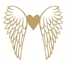 4mm mdf Wings and Heart Hearts