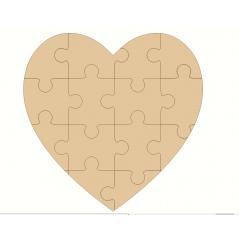 3mm MDF Jigsaw Heart Hearts