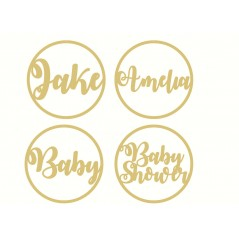 3mm mdf  Name Hoop (fancy font)