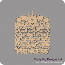 3mm MDF Mummy/Sister/Mum/Daughter/Nanny you are: as kind as Rapunzel, as generous as Jasmine, As loving as Anna...  hanging plaque Mother's Day