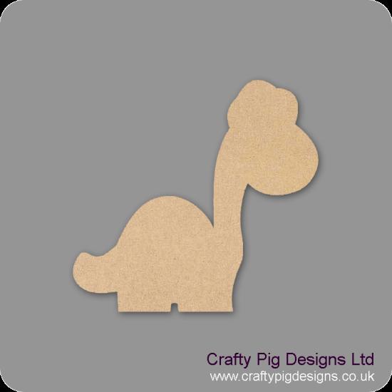 3mm MDF Long Neck Dinosaur Fairy Doors and Fairy Shapes
