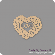 3mm MDF Love heart of hearts Hearts With Words