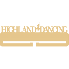 4mm MDF HIGHLAND DANCE medal hanger (1 figure centre) Medal Holder / Hanger