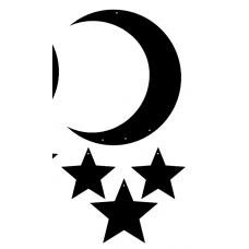 3mm mdf Moon Crescent and Stars Dream Catcher Dream Catchers