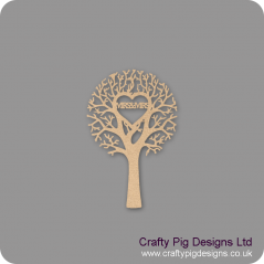 "3mm MDF ""MRS & MRS"" - Cut Out Tree"