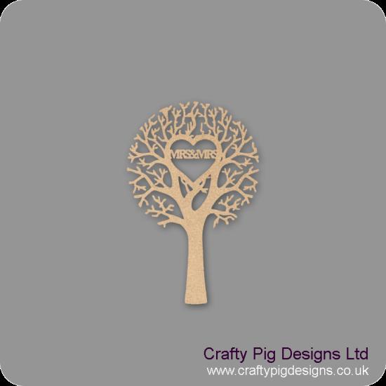 "3mm MDF ""MRS & MRS"" - Cut Out Tree  Trees Freestanding, Flat & Kits"