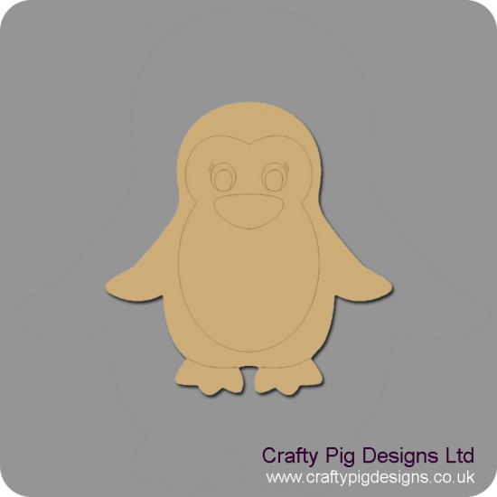 3mm MDF Mummy Penguin Christmas Shapes