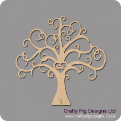 3mm or 4mm MDF My Family Tree - Freestanding or Flat  (not personalised) Trees Freestanding, Flat & Kits