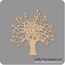 3mm or 4mm MDF Personalised Family Tree Trees Freestanding, Flat & Kits