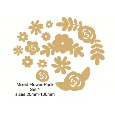 3mm MDF Mixed Flower Pack 2 (mixed sizes) Flowers and Garden