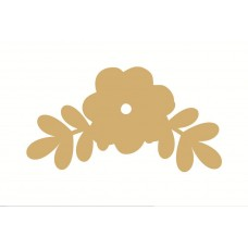 3mm MDF Flower and Leaf Style 3 (pack of 5) Flowers and Garden