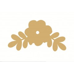 3mm MDF Flower and Leaf Style 3 (pack of 5)