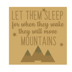3mm mdf Layered Square - Let Them Sleep For When They Wake Quotes & Phrases