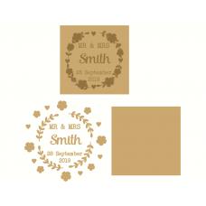 4mm mdf or oak veneer backed layered Wedding Plaque Valentines