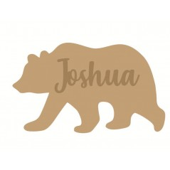 3mm mdf  Polar Bear Name Plaque Joined Words and Names to Order