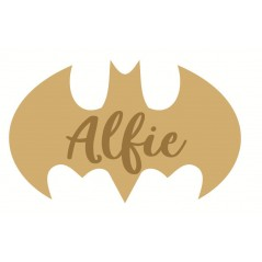 3mm mdf  Batman Script Name Plaque Joined Words and Names to Order