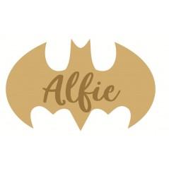 3mm mdf  Batman Script Name Plaque