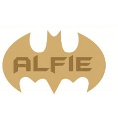 3mm mdf  Batman Single Letter Name Plaque