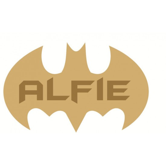 3mm mdf  Batman Single Letter Name Plaque Joined Words and Names to Order