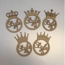 3mm  Crown Bauble - Various Styles - personalised Personalised and Bespoke