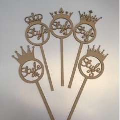 3mm mdf  Personalised Crown Wand New Styles