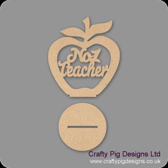 3mm MDF No.1 Teacher - Freestanding Apple Teachers