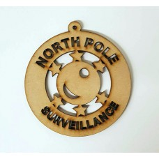 3mm  North Pole Surveillance Bauble Christmas Baubles