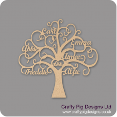 4mm MDF Personalised Freestanding - Our Family Tree Trees Freestanding, Flat & Kits