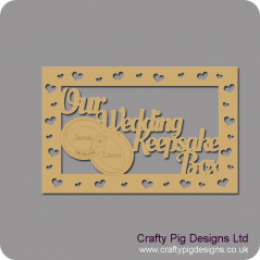 3mm MDF Rectangular 30x20cm Our Wedding Keepsake Box Topper - Personalised Rings Personalised and Bespoke