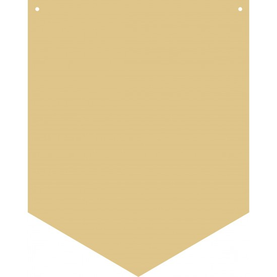 3mm mdf Pennant Flag Shape Basic Plaque Shapes