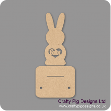 3mm MDF Personalised Easter Bunny and stand with 2 egg holders Easter