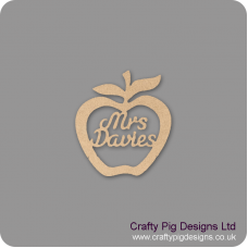 3mm MDF Personalised Apple Teacher Gift (hanging) Teachers