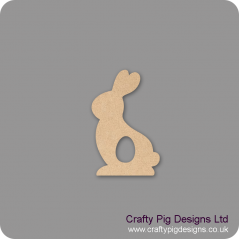 18mm Freestanding Rabbit with Egg Shape Cut Out Easter