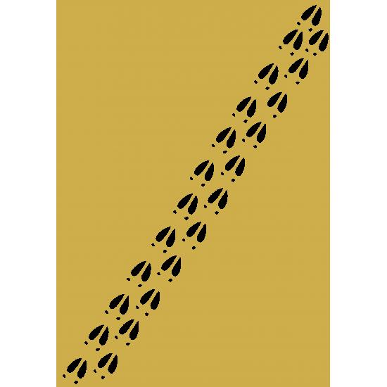 3mm mdf Reindeer Hoof Print Sheet Christmas Shapes