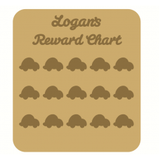 3mm MDF Personalised Bubble Car Reward chart (with button handles)