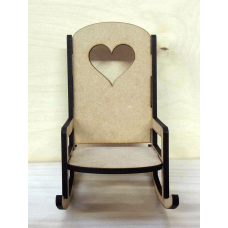 4mm MDF Rocking Chair Christmas Shapes