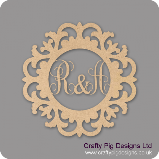 6mm Framed Round Double Monogram Personalised and Bespoke
