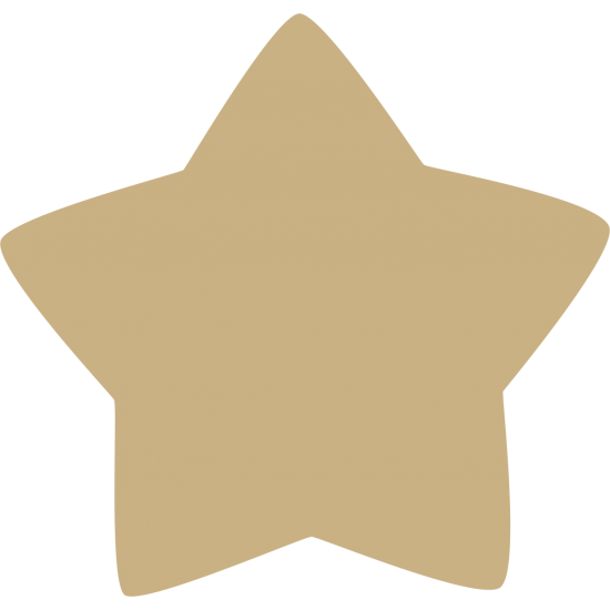 3mm MDF Rounded Country Star Small MDF Embellishments