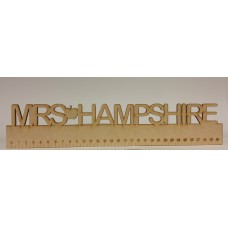 3mm MDF Personalised Ruler